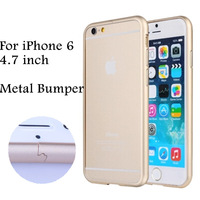 1 Piece Free Shipping 2015 New Arrival Luxury 4.7 inch For iphone 6 apple iphone6 Metal Aluminum Bumper Case n61 Fashion Design
