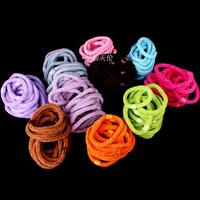 Wholesale 200pcs Lot Mix Lot Multi-colour Women Girl Thick Endless Hair Elastics Bands Ponytail Holder Hairband Free Shipping