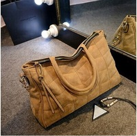 The new European and American brands casual fashion chains handbags nubuck leather shoulder bag tote women handbags