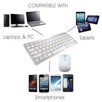 Slim 2.4GHz Wireless Multimedia Optical Wireless Bluetooth Keyboard Mouse Kwyboard and Mouse for Desktop Laptop PC Mac Win 7 8