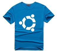 New Arrival men t shirt Ubuntu system logo Print O-neck Short-sleeve T-shirt casual  t Shirt men tops tees Plus Size T08