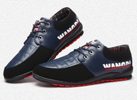 Autumn male casual leather men's lacing shoes male casual shoes male shoes trend
