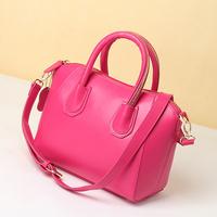 Drop shipping quality women's handbag candy color women's cowhide smiley bag small handbag cross-body bags