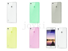 Soft TPU Case for Huawei Ascend P6 0.3mm TPU Silicon back Transparent Cover mobile phone bags & cases