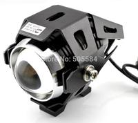 1pair CREE Led motorcycle day light 30w Spot beam Motorbike headlights headlamp Auxiliary Fog lamp 12-80v Warning strobe flasher