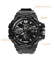 Fashion Skmei0990 shock resist men's Sports Watch, 5ATM Waterproof swimming watch LED Digital Student outdoor Wristwatches