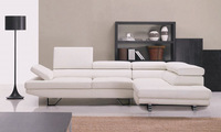 Door To Door Service European and American Design Top Grain Leather Solid Wood frame, Simple White Leather Sofa With Couch LA061