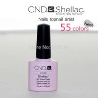 Hot Selling CND SHELLAC Soak Off UV Led Nail Gel Polish 10pcs/Set 47 Colors Available