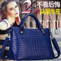 In the autumn of 2014 new handbag Leather Bag Messenger Bag Shoulder Bag Handbag crocodile embossed leather handbag