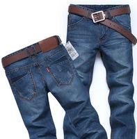 2014 Hot Sales Fashion Men's Loose Slim Springy Waistline Large Size Jeans Blue Color MKN223