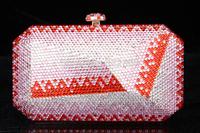 2014 Crystals Evening bag,Women Fashion Hard Case Metal Purses Party Handbags , CB6042-1