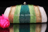 2014 Crystals Evening bag,Women Fashion Hard Case Metal Purses Party Handbags , CB6018-2