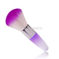 Free shipping / Wholesale Nail Dust Clean Brush Plastic Colorful Nail tools Brush Nail Art Washing brush Make up Brush 5pcs/lot