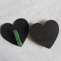 MINI CLIP PEG WOODEN SMALL HEART BLACKBOARD CHALKBOARD CHALK WEDDING OFFICE SCHOOL CHRISTMAS