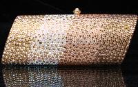 2014 Crystals Evening bag,Women Fashion Hard Case Metal Purses Party Handbags , tokay,CB6061