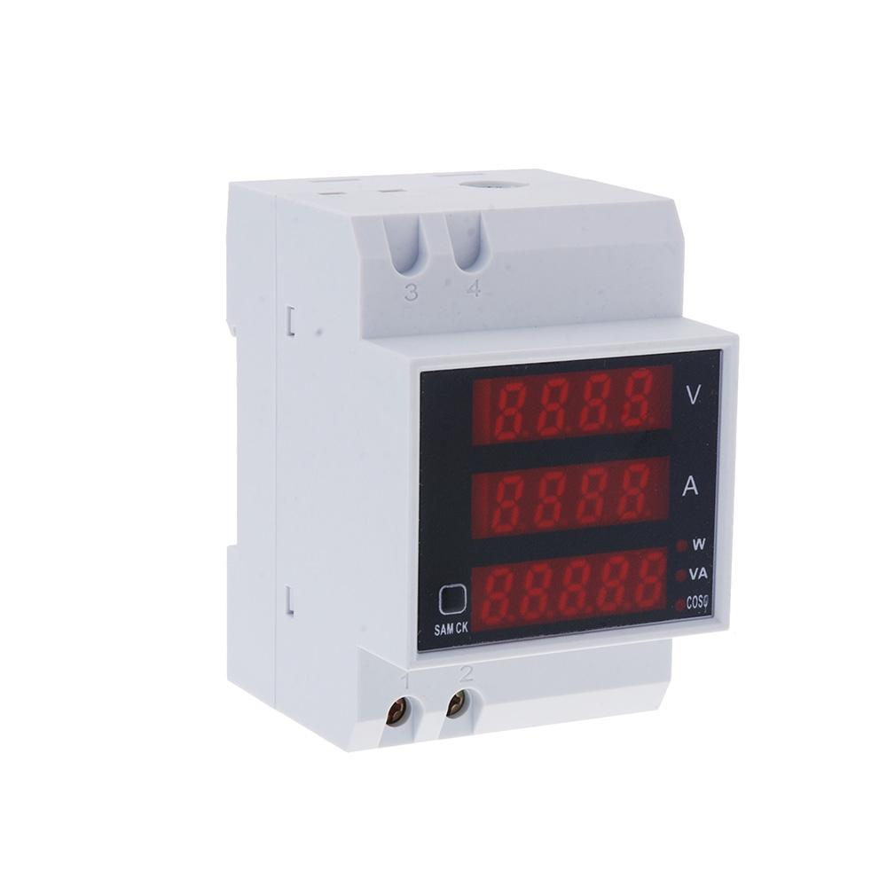 Multi-functional LED Display Volt Meter Professional Digital Din Rail Current Voltage Power Tester Ammeter Voltmeter(China (Mainland))