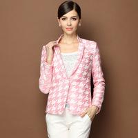 2014 Europe New Women Jacket One Button Slim Waist Short Small Chic Suit Lady Blazers