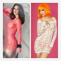 Women Valentine's Day Lingerie Sets Erotic Lady Seamless Mini Dress Chemise Lingerie Nightie Sleepwear inimates E21540