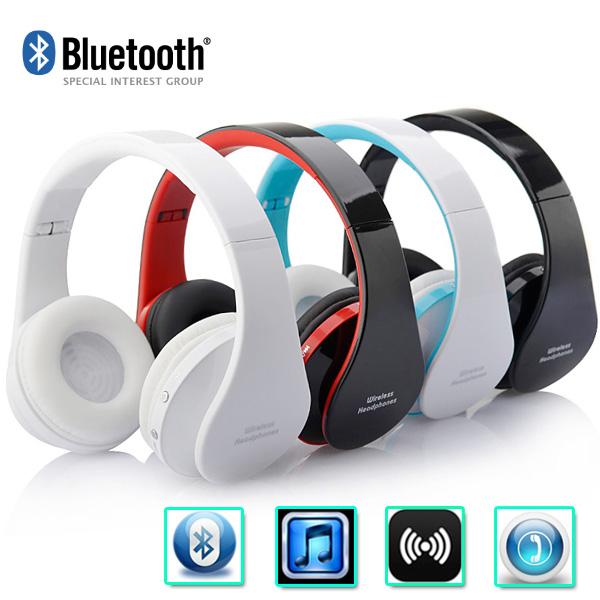 High quality !!! Foldable Wireless Bluetooth Stereo Headset Handsfree Headphones Earphone Mic for iPhone iPad PC 4 colors(China (Mainland))