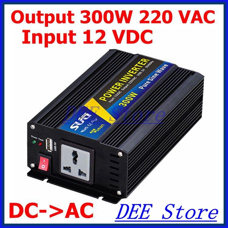 Pure sine wave inverter 300W 210VAC 220VAC 230VAC 12VDC , CE ROHS, Solar Inverter, Power inverter, Car Inverter(China (Mainland))