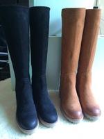 2014 winter fashion high quality Elastic cloth scrub suede with knee high boots platform heels thigh high boots thigh high boots