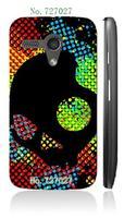 hot skull cartoon style mixd hard white case cover for Motorola Moto G 1pcs/lots + free shipping