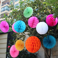 "Free Shipping 8"" 30 pcs/lot tissue paper honeycomb ball wedding decorations birthdays party souvenirs"