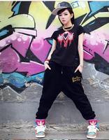 Female hip-hop pants waist women's harem pants cotton trousers in the Korean version of hiphop sweatpants pants