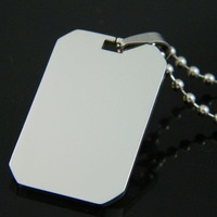 High Quality Double Polished 316L Stainless steel Dog Tags Necklace Pendant Fashion Jewelry sets