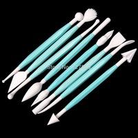 8Pcs Fondant Cake Pastry Carving Flower Modelling Craft Decor Cuttert Tools