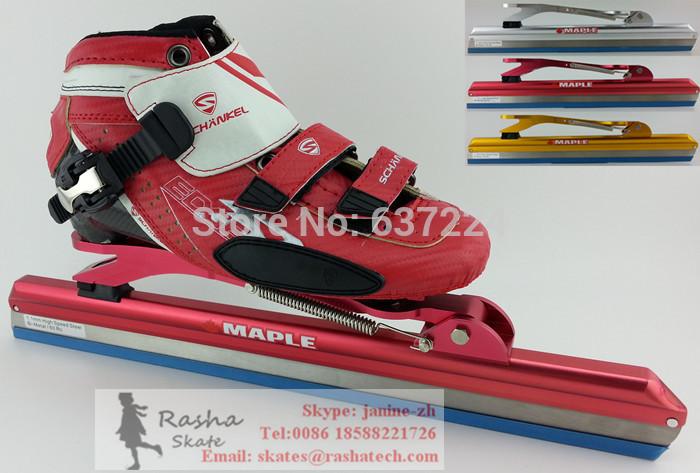 Speedskates--SCHANKEL ice skate blade 380mm 410mm 430mm ice skating shoes Speedskating shoes Hockey Short Track shooe(China (Mainland))