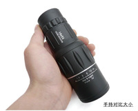 Free Shipping & Drop Shipping New 16 x 52 Dual Focus Zoom Green Optic Lens Armoring Travel Monocular Telescope