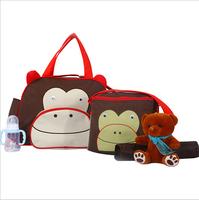 New Arrival Lovely Cartoon Fashion High Capacity Multifunctional Baby Diapers Bags Mummy Bag Mom Handbags 2pcs/set