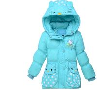 2014 New Girls Winter Coat 90% White Duck Down Warm Coats Free Shipping