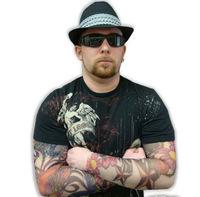 5 PCS new mixed 100%Nylon elastic Fake temporary tattoo sleeve designs body Arm stockings tatoo for cool men women Free shipping