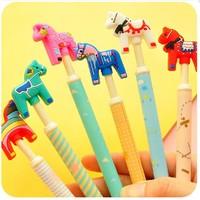 (8 pieces/lot) Cute Crazy Pony Gel Pen Student Creative Pen papelaria School Office Supplies Stationery material escolar