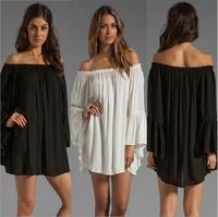 014 New women's sexy loose collar strapless dress bandage dress mini bodycon dress frozen dress elsa dress