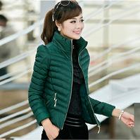 2014 Winter Fashion Women Parka Cotton Coat Outwear Casual Slim Parkas Good Quality Size M L XL 2XL