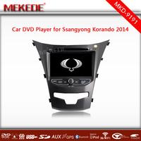 Ssangyong new actyon Korando 2014 Car dvd player with GPS Navigation TV Bluetooth Radio Russian menu 3G wifi USB Free shipping