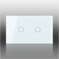 US Style LIVOLO AC100~250 Volt 2 Gang Touch Control Smart Home Wall Light Switch Waterproof Glass Panel LED Indication