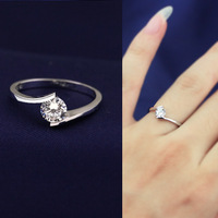 Wholesale 925 Sterling Silver Cubic Zircon CZ 0.7 Carat Bypass Band Ring Wedding Engagement Sale