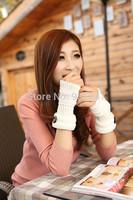 Quality Cotton Blend Women's Gloves Mittens Elegant Fashion Wrist Fingless Warm Winter Hand Gloves Free Shipping