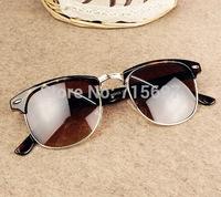 Lovey Fashion Brand Design 3016 Clubmaster Sunglasses Men/women Rivet Semi-metal Sports Eyeglasses Wholesale