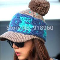 winter knitting polo cap womens crochet baseball cap,thick warm snapbacks cap outdoor travel hats for winter,AfW