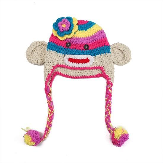 Free Crochet Pattern For Sock Monkey Hat With Ear Flaps ~ Traitoro for .