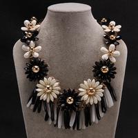 2014 new autumn&winter women's fashion luxury brand jewelry pendants&necklaces, flower color statement necklace & pendants,N007