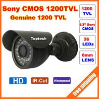 HD Original Sony CMOS 1200TVL IR 36 pcs Leds 30M night vision waterproof Security Bullet CCTV Camera with bracket Free shipping