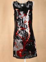 Wholesale Europe new 2015 sequins summer dress evening party vestidos femininos club causal black dress dropshipping JQ6011