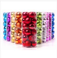 Christmas Light Balls, Christmas Tree Decorations, 24 Piece Per Barrel , 4cm (2pieces/lot ) Christmas Decoration Supplies
