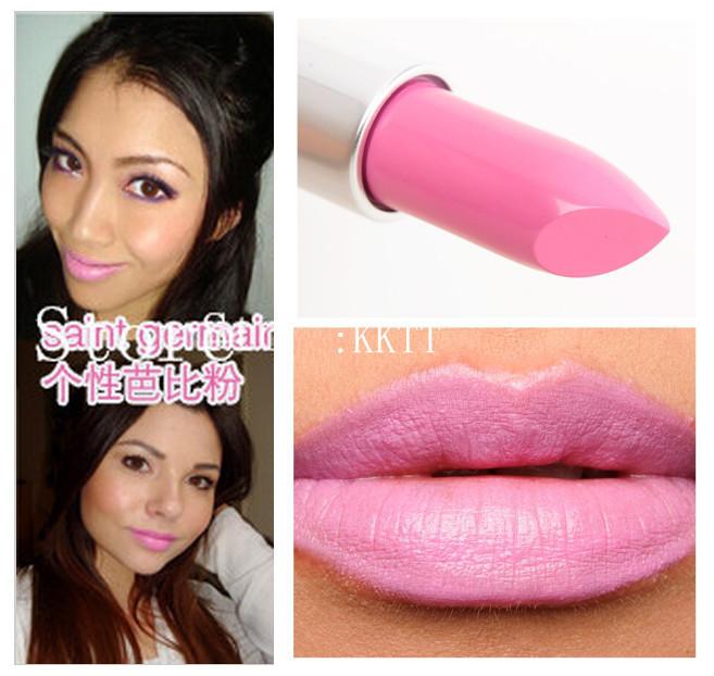 HOT SALE!!Wholesale Brand Makeup Cosmetics Lasting Lipstick High Quality 3G Light Pink Lipstick 1PCS(China (Mainland))